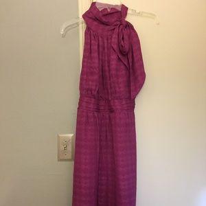 Shoshanna silk tie-neck patterned dress, 6